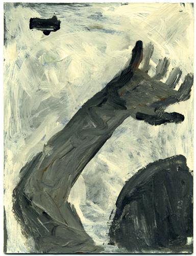 "©  Kourosh Bahar | beacon, 2010, acrylic/postcard, 6.5 x 5"""