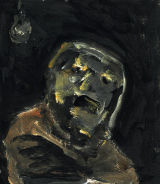 "©  Kourosh Bahar | foot soldier, 2010, acrylic/postcard, 5 1/8 x 4.5"""