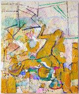 "©  Kourosh Bahar | acropolis, 2006 / 2012-2015, oil/canvas, 18x15""  by  3/4"" thickness"