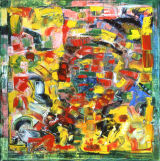 "©  Kourosh Bahar | boogie woogie, 2001, oil/canvas, 30x30"""