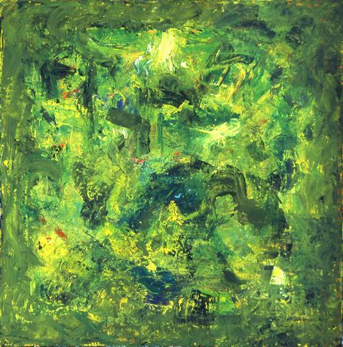 © Kourosh Bahar | <i>poseidon, 2001, oil/canvas, 15x15 </ sold>
