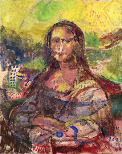 "©  Kourosh Bahar | after leo, 2002, oil/canvas, 30x24"""