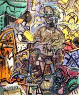 "©  Kourosh Bahar | Gethsemane revisited, 2003, oil+charcoal / canvas, 36x30"""