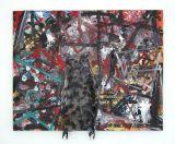 "©  Kourosh Bahar | Nightvision, 2003, oil+cheesecloth / canvas, 17.25x20"""