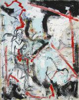 "©  Kourosh Bahar | Red line, 2003, oil/canvas, 20x16"""