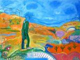 "©  Kourosh Bahar | journeyman, 2004, oil/canvas, 30x40"""