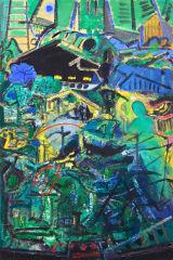 "©  Kourosh Bahar | talisman, 2004, oil/canvas, 36x24"""