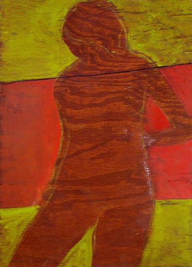 © Kourosh Bahar | brown nude, 2007, oil/wood, 21x25