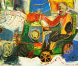 "©  Kourosh Bahar | headhunter, 2008, oil/canvas, 56x66""  by  2"" in thickness"