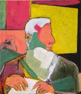 "©  Kourosh Bahar | st jerome, 2008-2011, oil/wood, 10.25 x 9"""