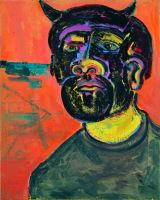 "©  Kourosh Bahar | minotaur, 2002, oil/canvas, 20x16"""