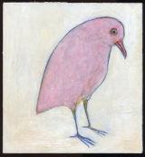 "©  Kourosh Bahar | Claudia, 2002, acrylic+pencil+paper / wood, 7.5 x 7"""