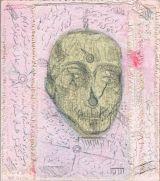"©  Kourosh Bahar | Codex#1, 2002, acrylic+graphite / canvas mounted on wood, 8.5 x 7.5"""