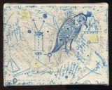 "©  Kourosh Bahar | Codex #2, 2002, ink+pencil / canvas mounted on wood,  5.5 x 7"""