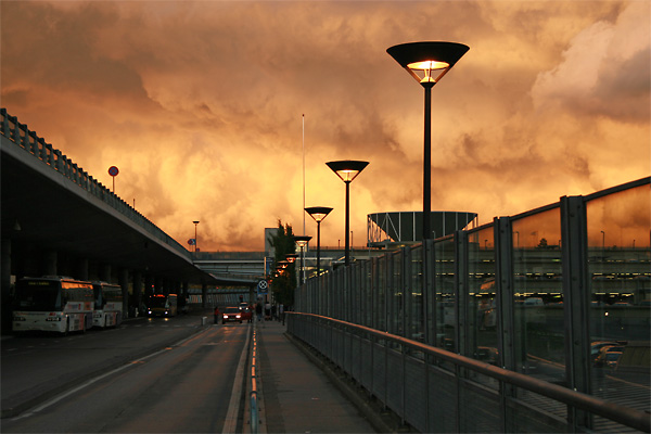 Stormy skies, Oslo airport 25 June 2006
