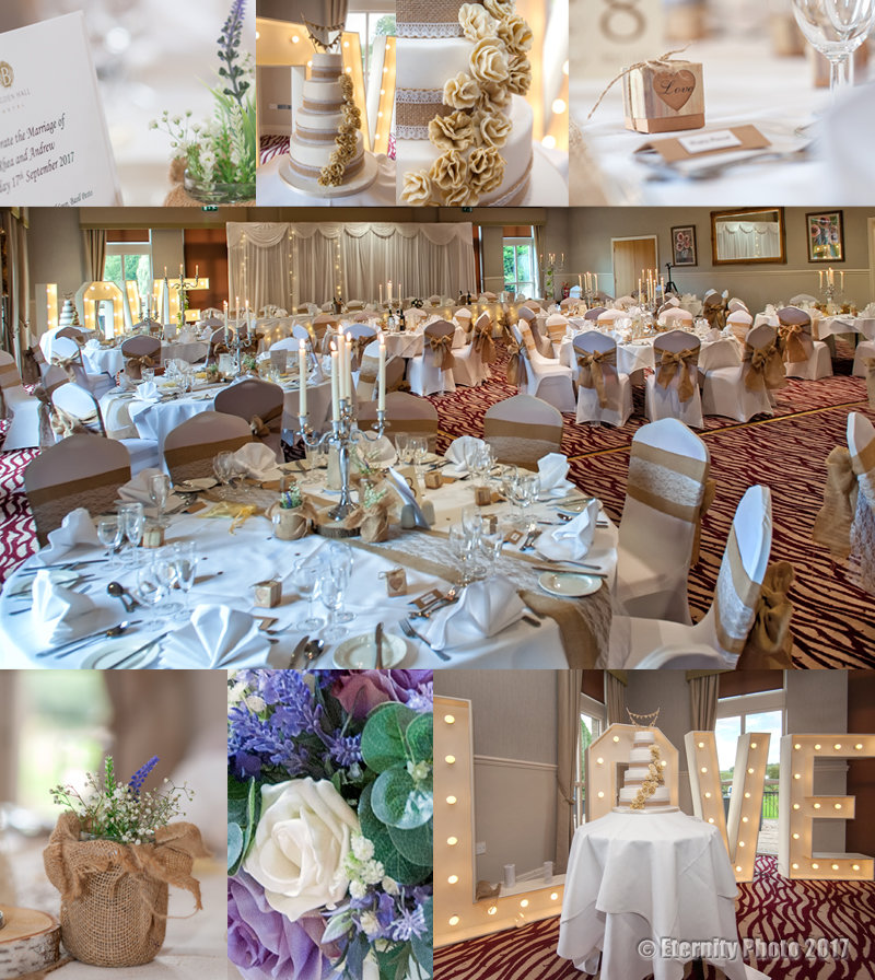 Wedding table settings and details _ Bagden Hall Hotel