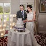West Yorkshire wedding photographer.  Cake cutting.