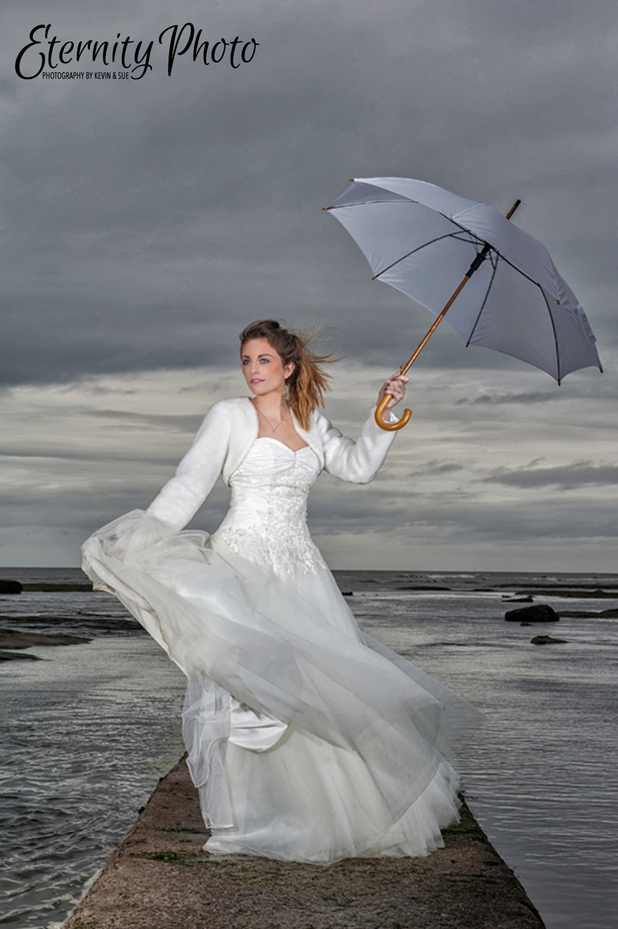 West Yorkshire wedding photography by Eternity Photo Ltd.  Bridal shoot.at Whitby, North Yorkshire.