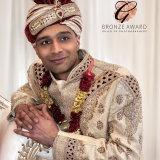 Bradford Wedding Photographer.  Asian groom in full wedding attire.