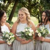Wakefield wedding photographer. Bridesmaids having fun.