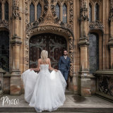 Yorkshire wedding photography by Eternity Photo Ltd.  Bride and groom at Carlton Towers.
