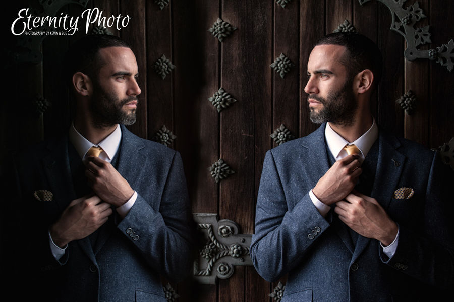Wedding groom preparation photograph by West Yorkshire photographer