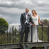 Bride and groom on the bride at the stunning wedding location, Waterton park Hotel in Wakefield, West Yorkshire.  Photography by Kevin and Sue at Eternity Photo Ltd.
