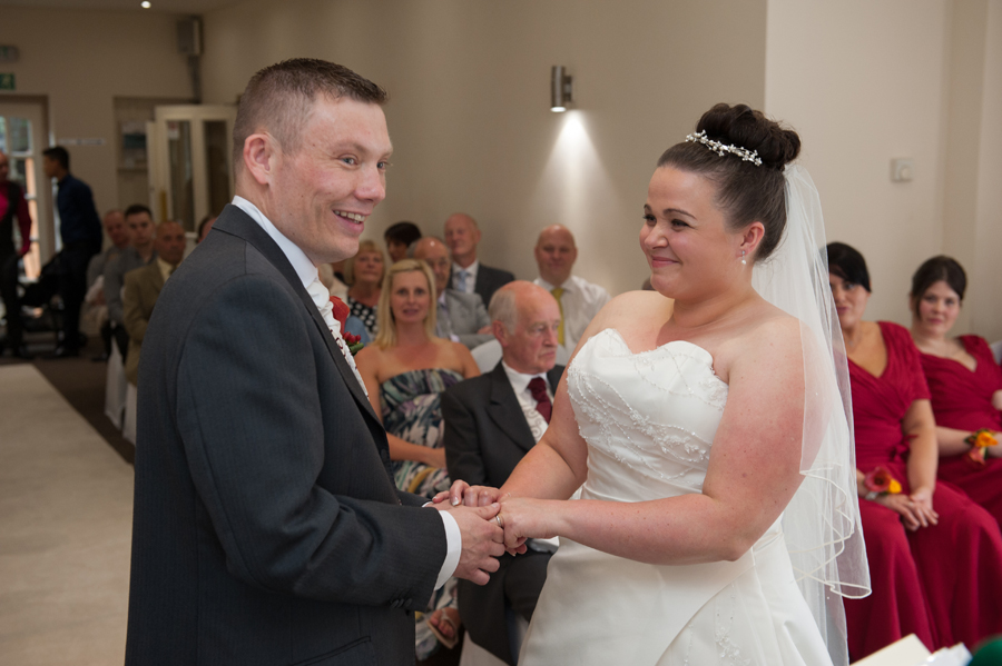 Wedding ceremony at Dimple Well Lodge Hotel in Ossett, West Yorkshire.