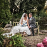 Monk Fryston Hotel wedding photographer. The bride and groom spending a quiet moment together.