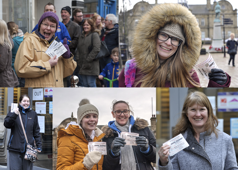 John_Bishop_fans_show_off_their_tickets_for_Ossett_Town_Hall_gig