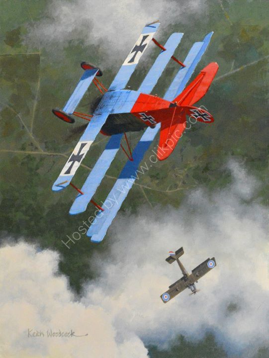FOKKER Dr.1 TRIPLANE and RE8. Escape from the Baron