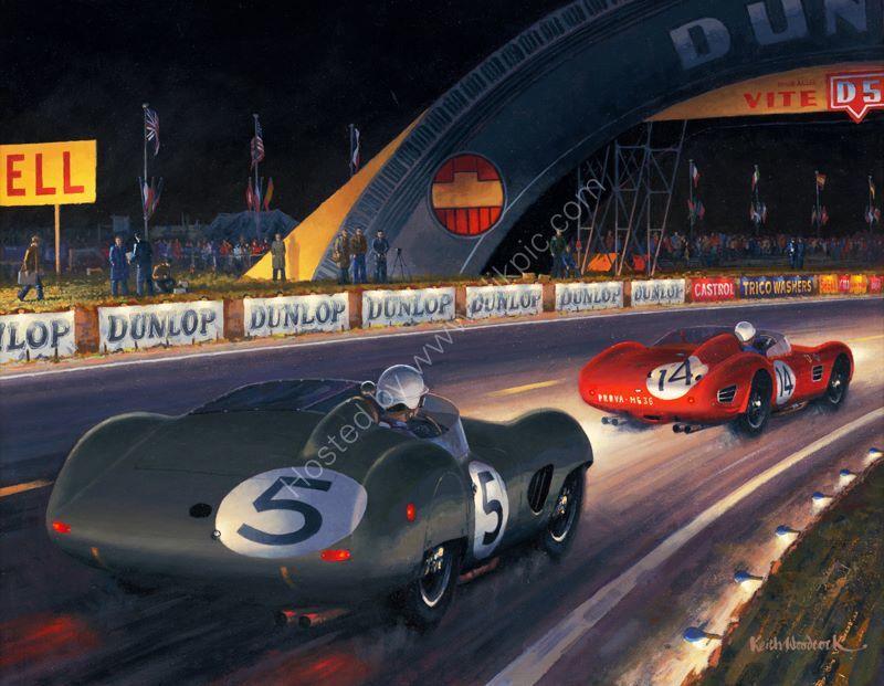 The Winning Aston Martin DBR1 at Le Mans 1959