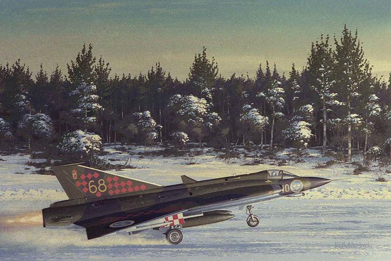 SAAB DRAKEN J35F
