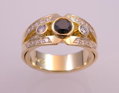 -14K gold with diamonds