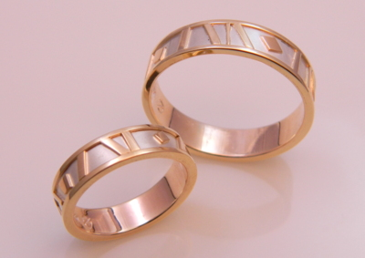 Matching Bands in 14K Gold & Silver