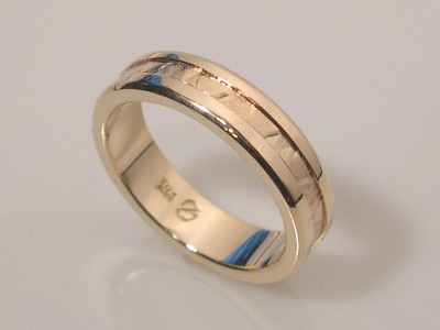 Textured Band in 14K Gold
