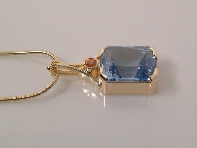 Topaz-Orange Sapphire Pendant