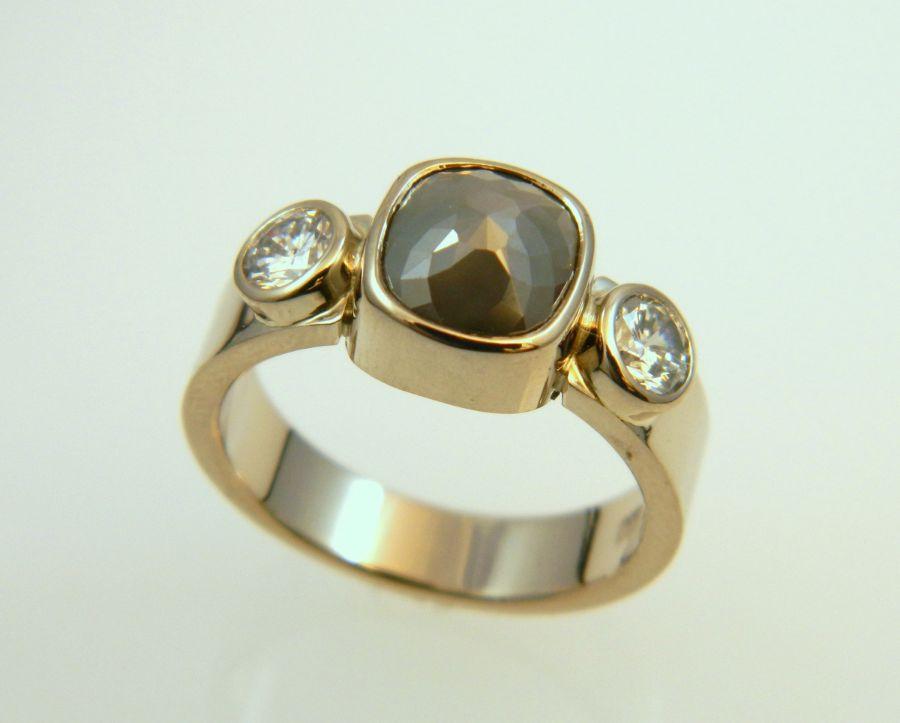 Black-Grey Diamond Ring