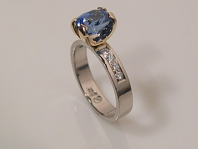 Sapphire Ring with Prong Setting