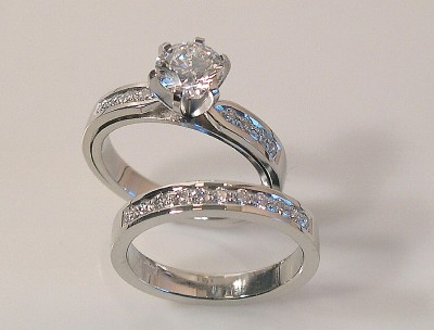 Diamond Ring Set - In Platinum