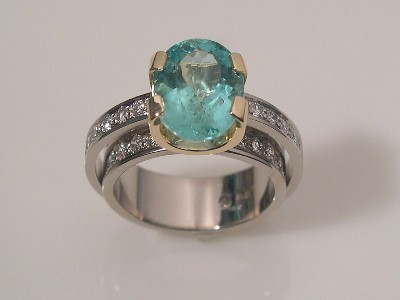 Emerald Ring - Double Shank