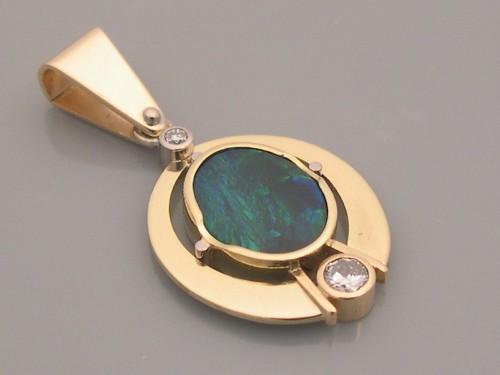 Opal & Diamond Pendant