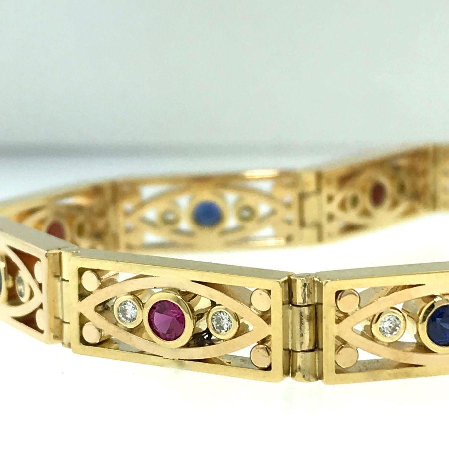 Ruby, Sapphire & Diamond Bracelet