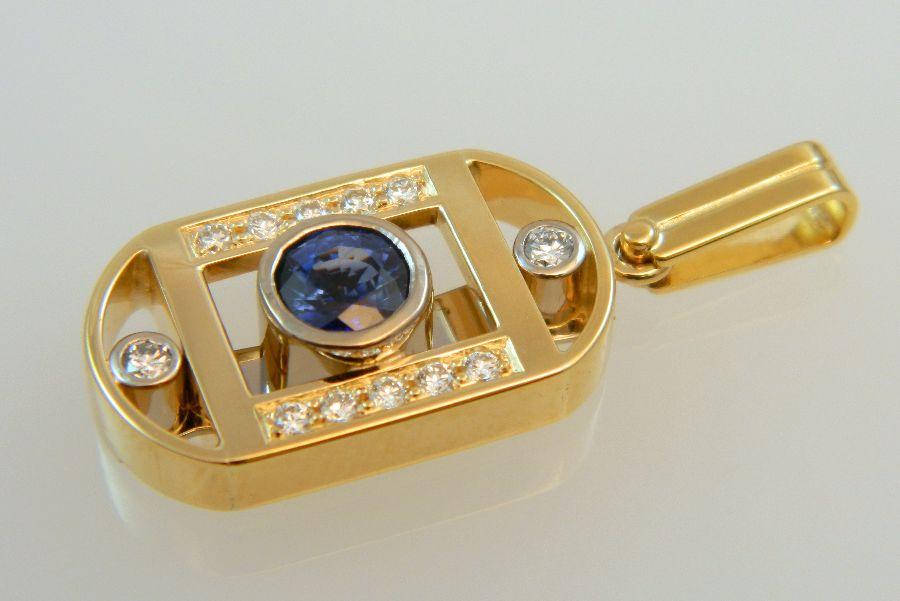 Sapphire-Diamond Pendant