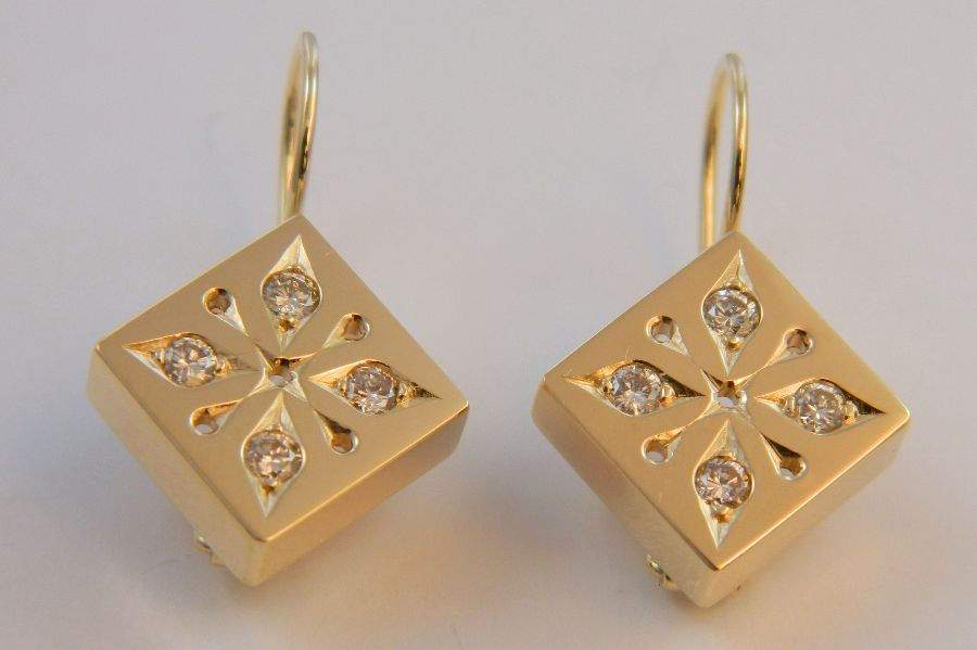 Square Snowflake Earrings