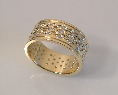 Woven Diamond Band