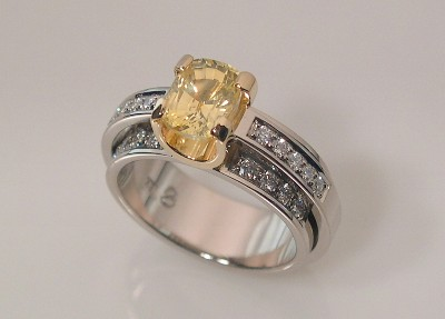 YELLOW SAPPHIRE RING - DOUBLE SHANK