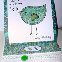 Easel Bird Card
