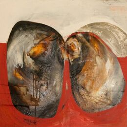 'Condita'     Bitumen, Oil, Acrylic on Board                                     100x100cm
