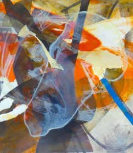 'Meffan' Etching, Collagraph, Monotype 1/1 50x50cm